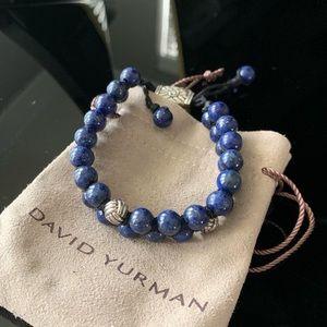 David Yurman   Men's Spiritual Bead Bracelet Lapis